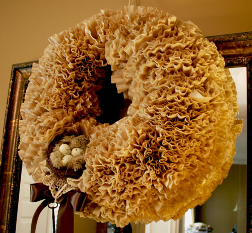 Coffee Filter Wreathc